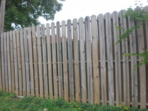 Custom Wood fence Installed By Charlotte Wood Fence Company. BlueFlag Fence Comapny of Charlotte NC.