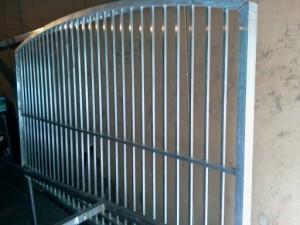 Custom ornamental aluminum driveway gate
