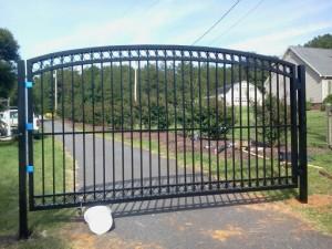Black Custom Aluminum Driveway Gate